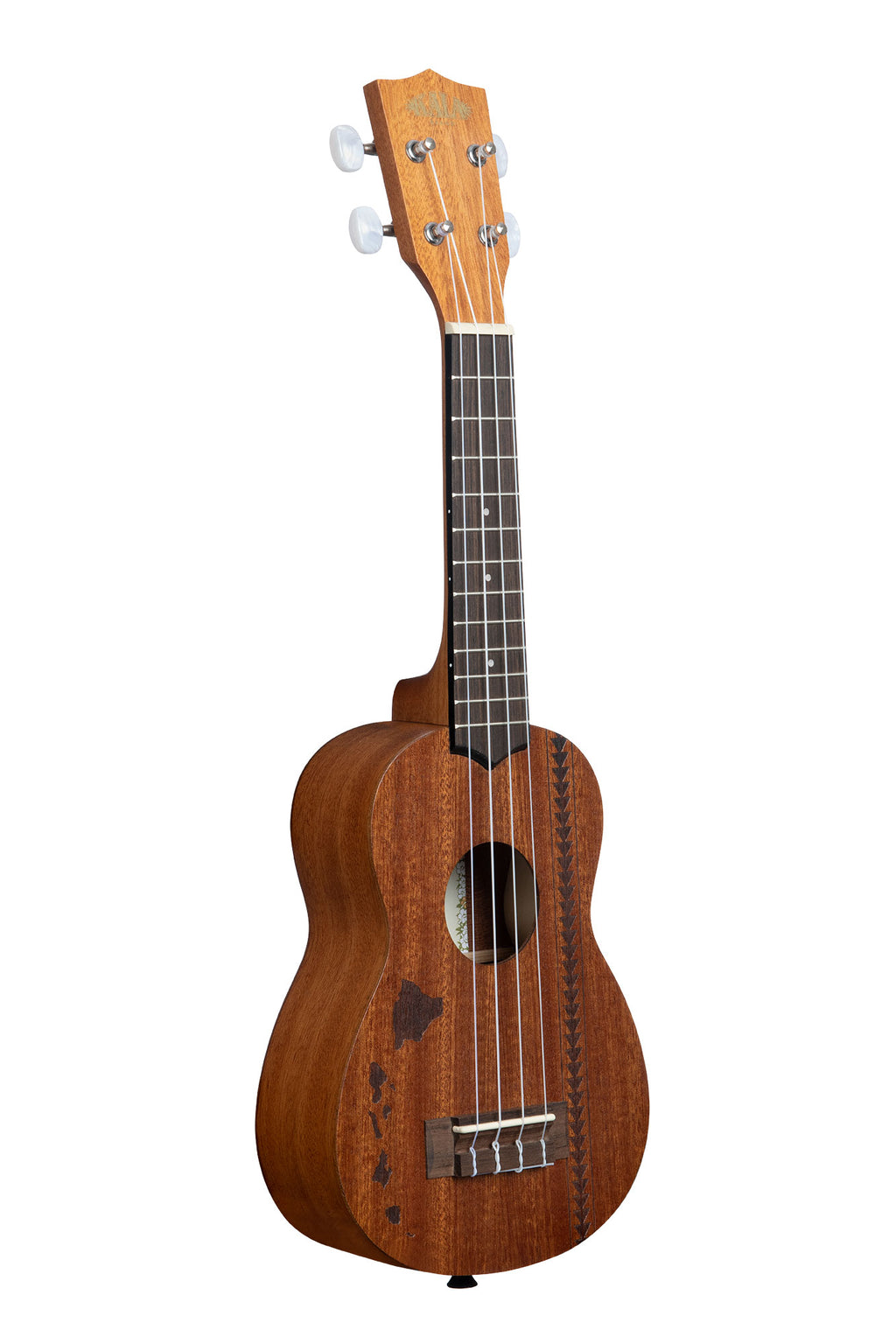 Satin Mahogany Soprano w/ Hawaiian Islands & Tattoo
