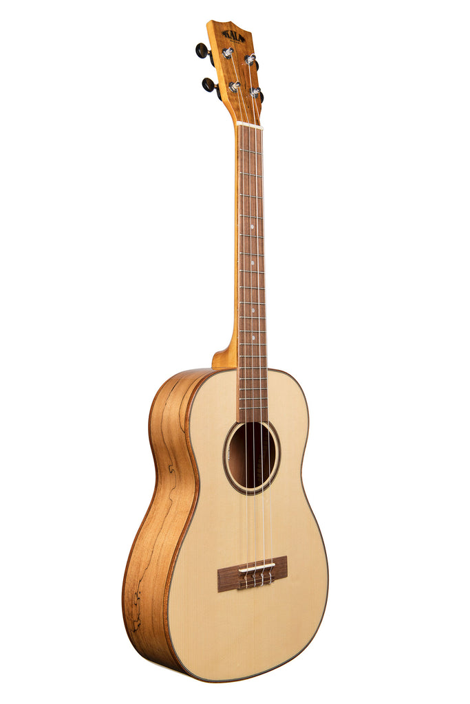 Solid Spruce Flame Maple Baritone