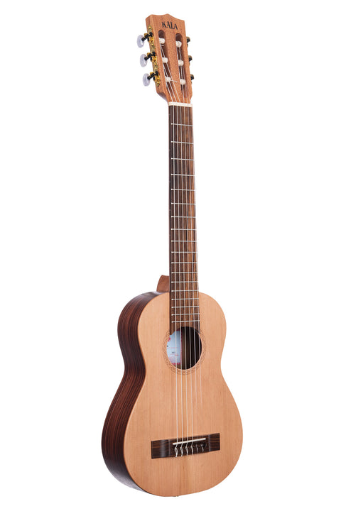 Solid Cedar Top Travel Guitar with Nylon Strings