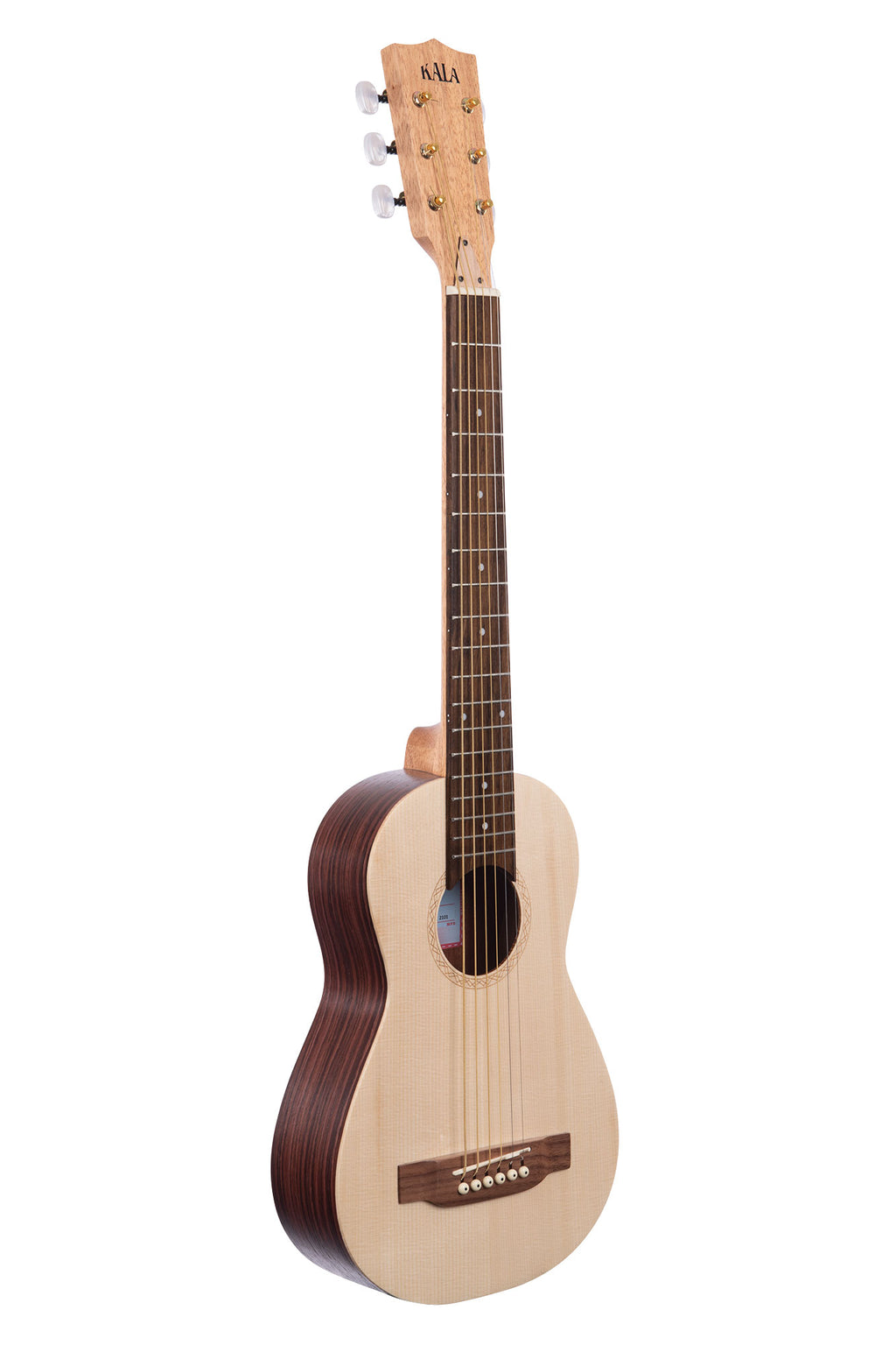 Solid Spruce Top Travel Guitar with Steel Strings