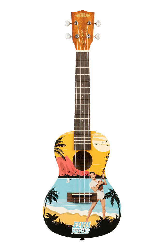 Kala Learn To Play Elvis Blue Hawaii Concert Ukulele Starter Kit