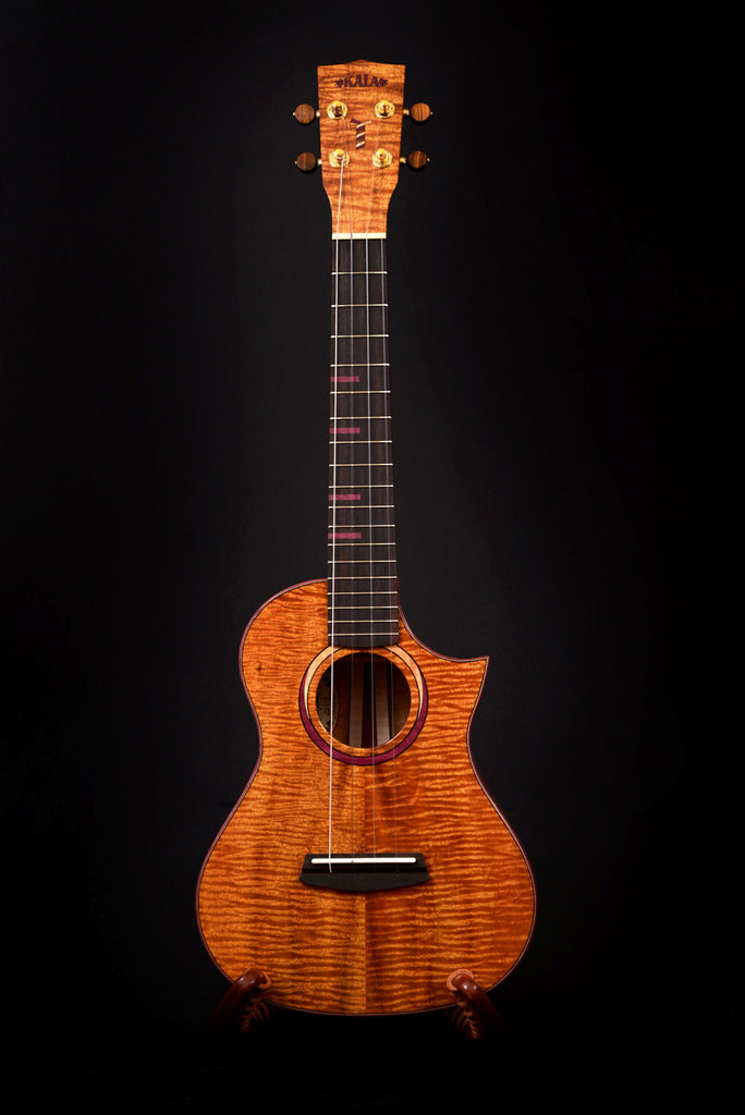 Three Cord Strand Koa Tenor Cutaway