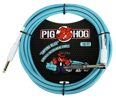 Pighog Instrument Cable, Daphne Blue, 10 Ft