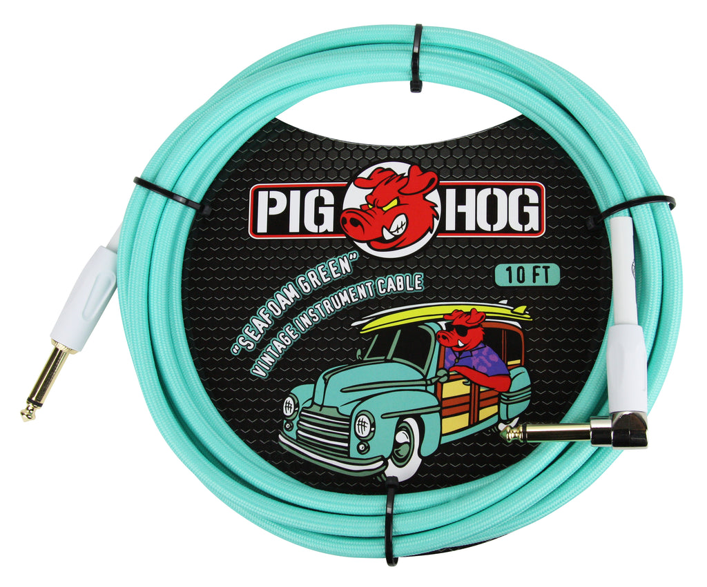 Pighog Instrument Cable, Sea Foam Green, 10 Ft