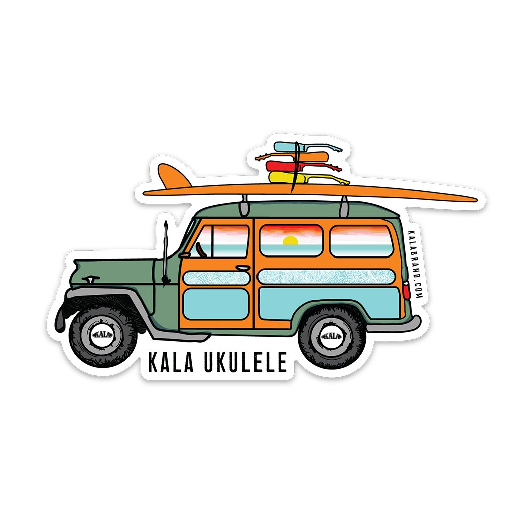 Kala Woody Jeep Sticker