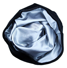 Satin-Lined Cap - Black