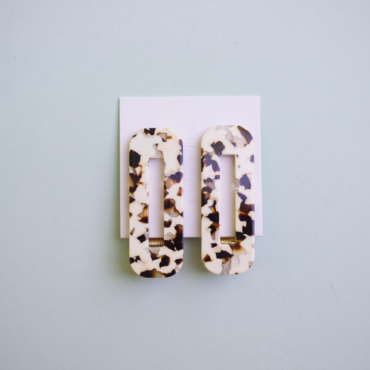 Hair Clips - Coco Cream Tortoise Duo