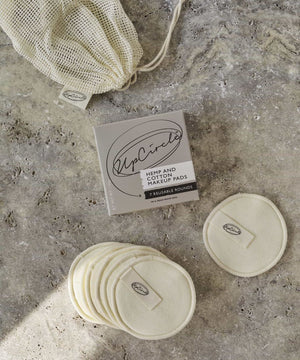 Hemp and Cotton Makeup Pads
