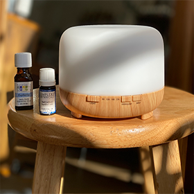 Wood Grain Essential Oil Diffuser w/Remote