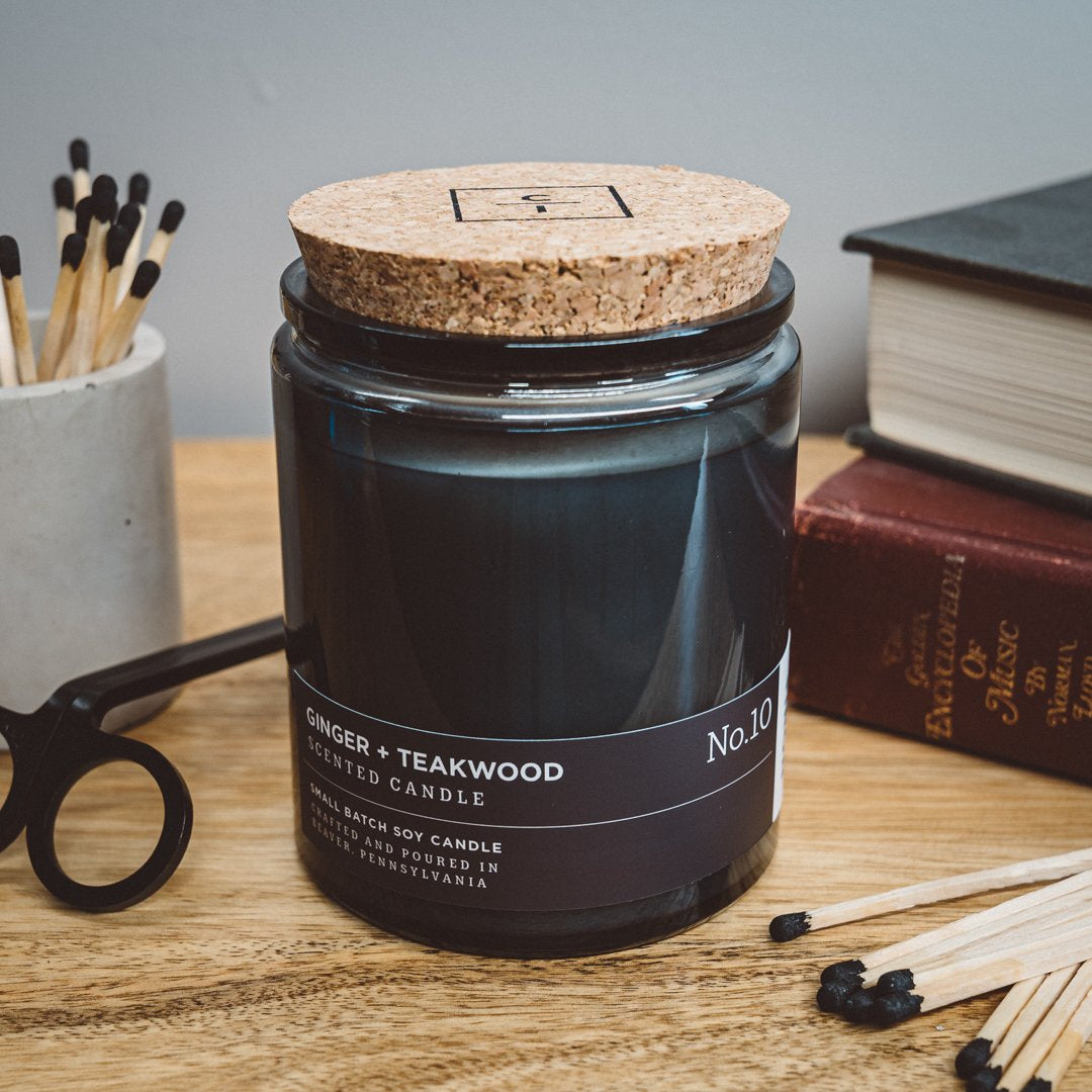 Ginger + Teakwood - Hand Poured Candle