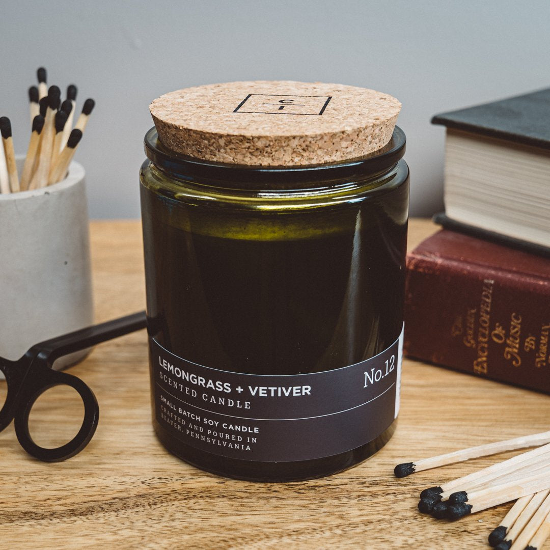 Lemongrass + Vetiver - Hand Poured Candle