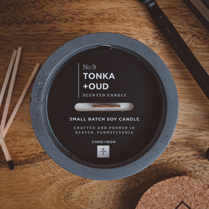 Tonka + Oud - Cement Candle