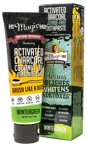 My Magic Mud Activated Charcoal Toothpaste:  Wintergreen