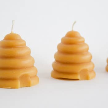 Beeswax Beehive Votive Candle