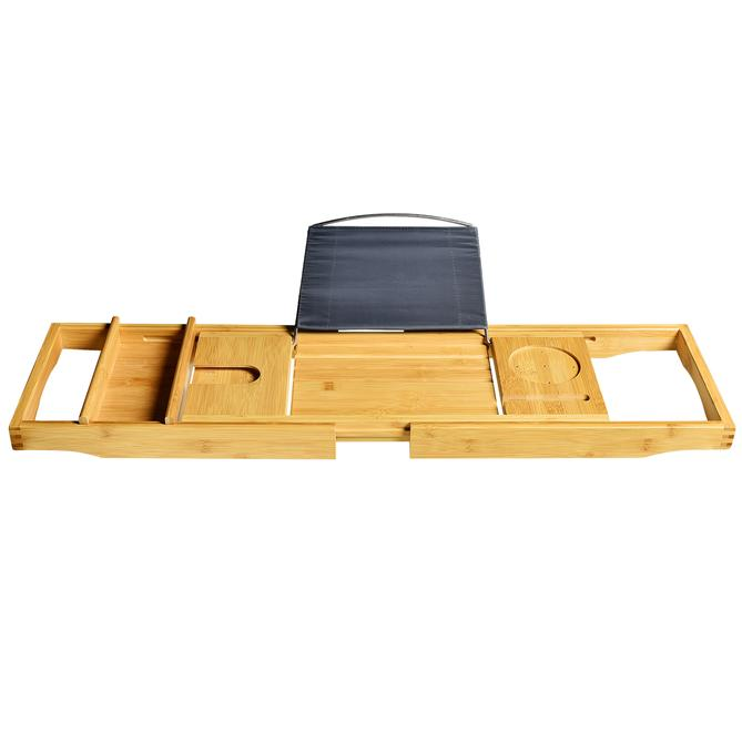 Delux Bamboo Bathtab Caddy
