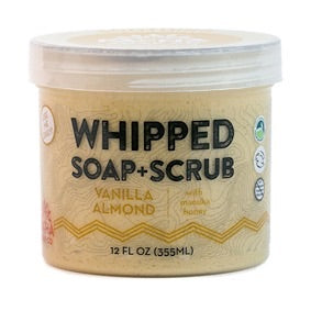 Whipped Soap + Scrub- Vanilla Almond