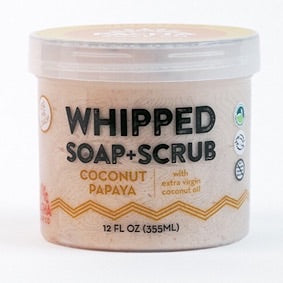 Whipped Soap + Scrub- Coconut Papaya