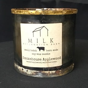 Barn Metal Candle- Smokehouse Applewood