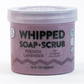 Whipped Soap + Scrub- French Lavender