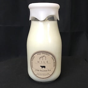 Milk Bottle Candle- 1768 Balsam Fir