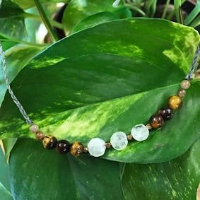 Necklace- Moonstone and Tigers Eye