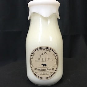 Milk Bottle Candle- Winding Roads