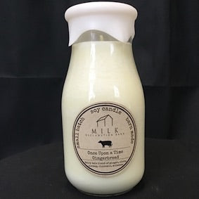 Milk Bottle Candle- Once Upon A Time Gingerbread