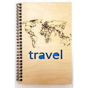 Wooden Journal - Travel