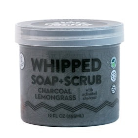 Whipped Soap + Scrub- Charcoal Lemongrass