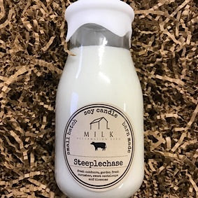 Milk Bottle Candle - Steeplechase