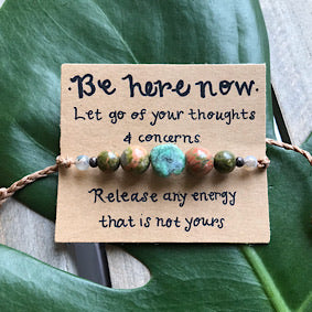 Be Here Now Bracelet - Braided String