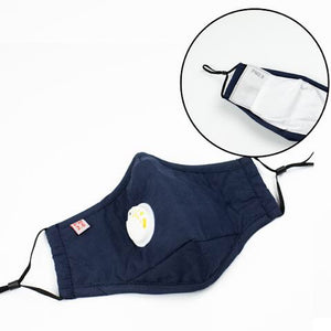 Face Mask with One PM2.5 Insert - Navy