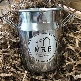 Milk Churn Candle- Barn wood