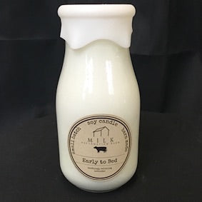 Milk Bottle Candle- Early to Bed
