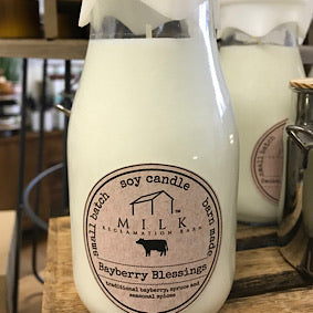 Milk Bottle Candle - Bayberry Blessings