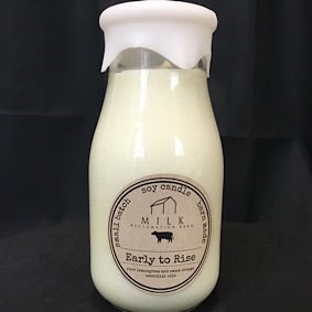 Milk Bottle Candle- Early to Rise