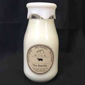 Milk Bottle Candle- The Hearth