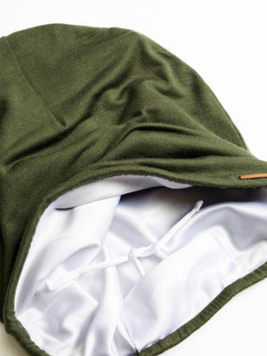 Adjustable Satin-lined Cap - Olive