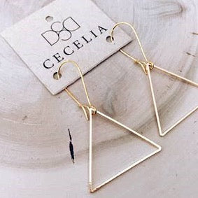 Basic Triangle Hoop Earrings