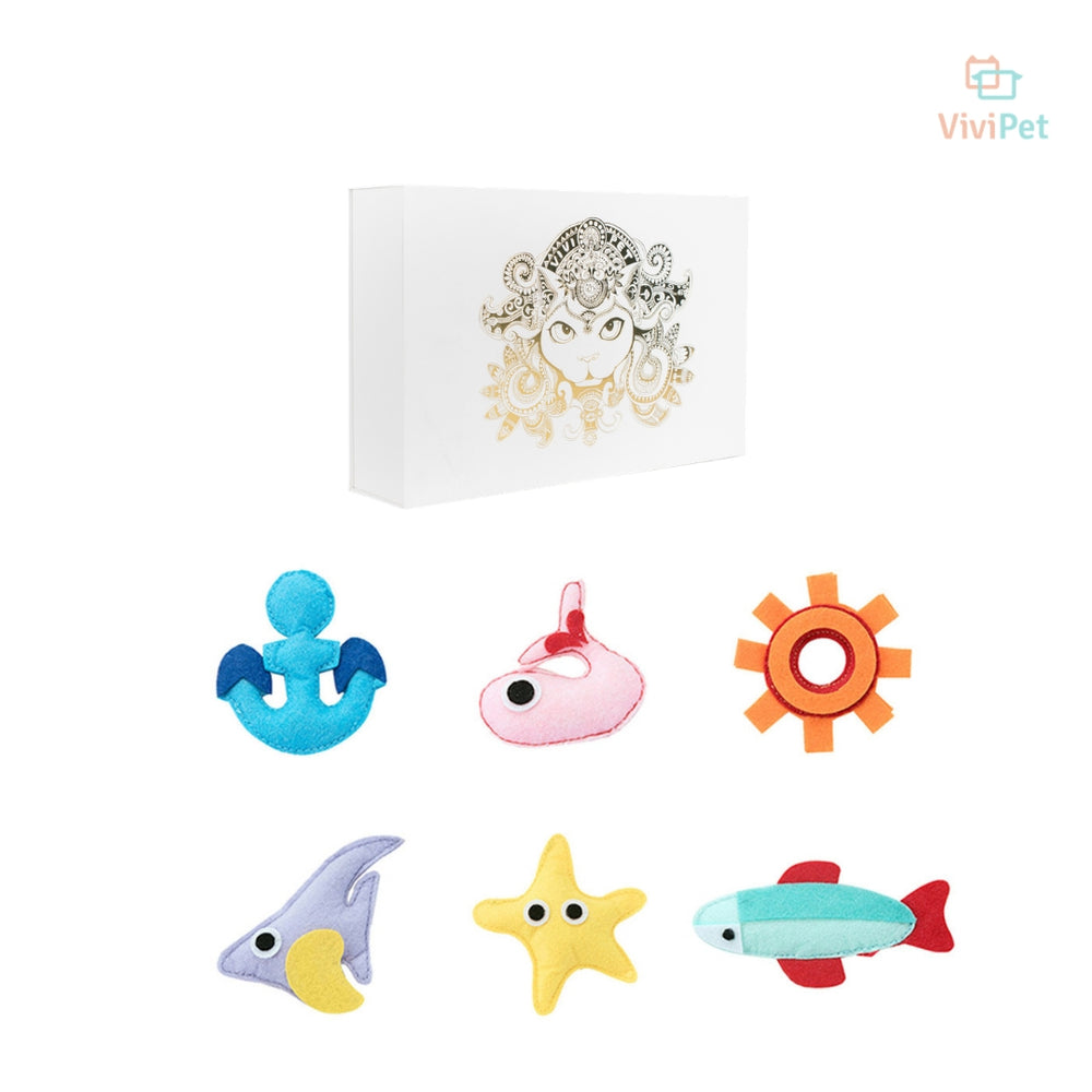 Under The Sea Cat Toy Box | Cat Accessories | ViviPet