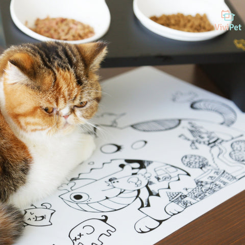 ViviPet丨Hand Painted Cat Sililcone Mat