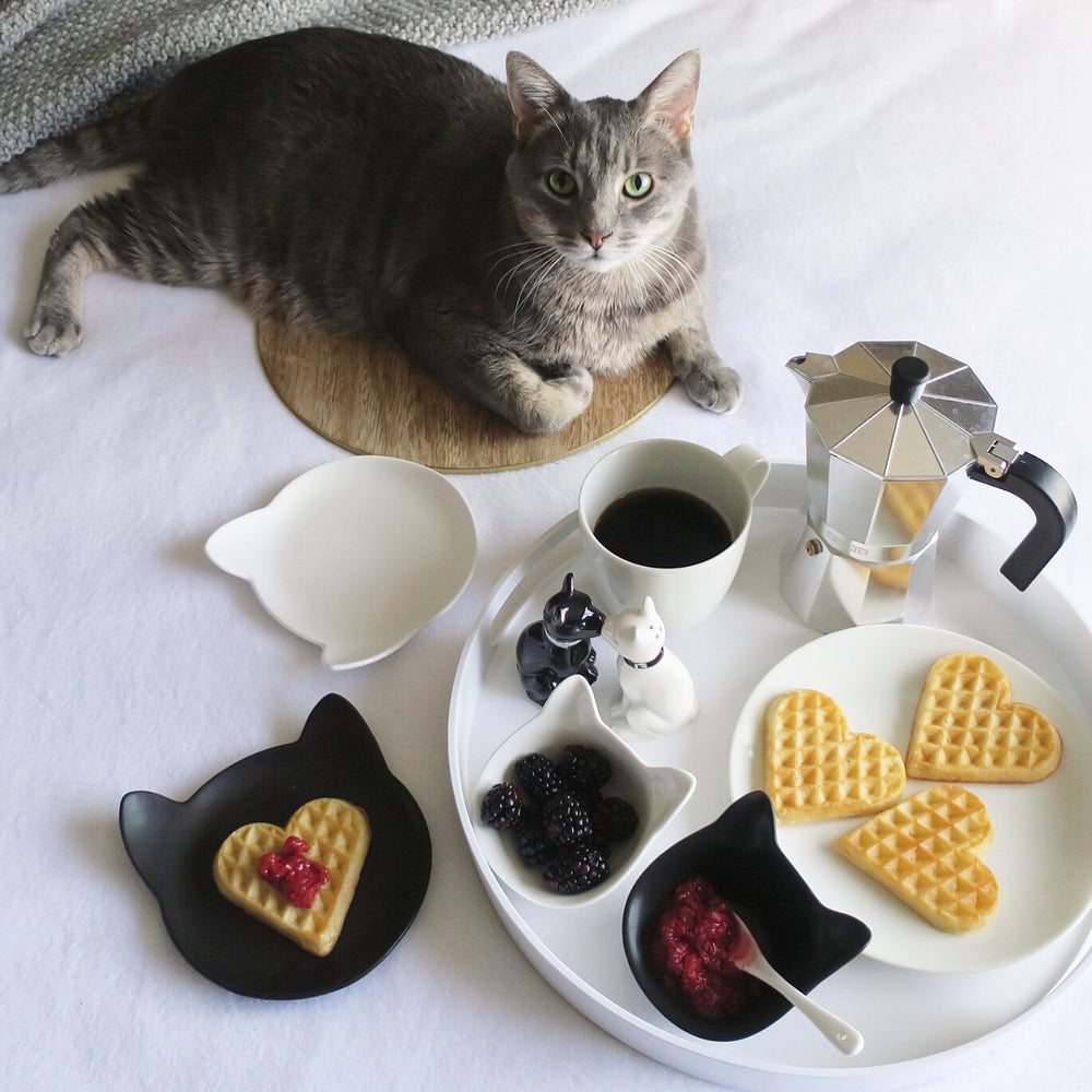 Cat Shaped Plates - Set of 6 | Cat-Themed Gifts | ViviPet