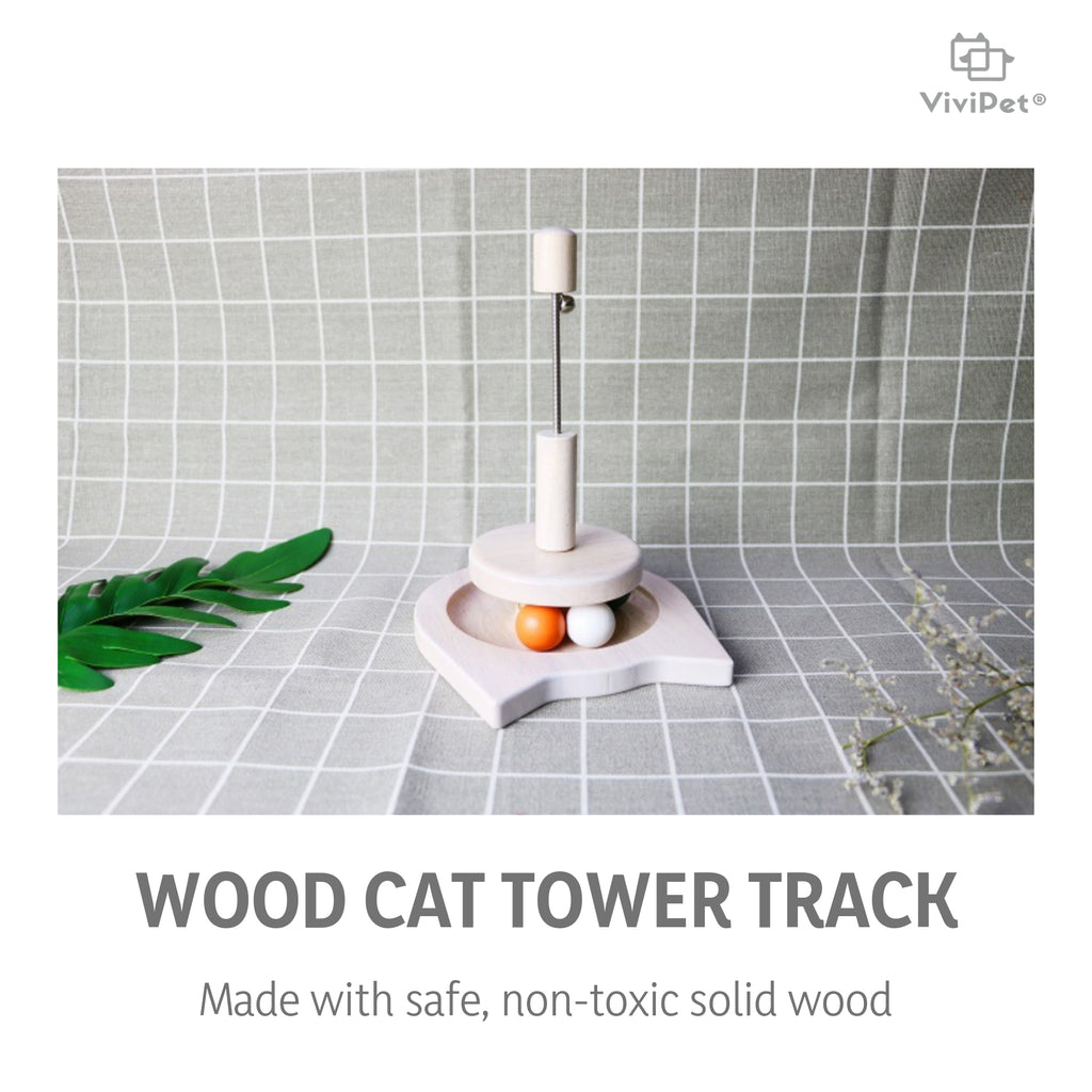 Wood Spring Cat Toy