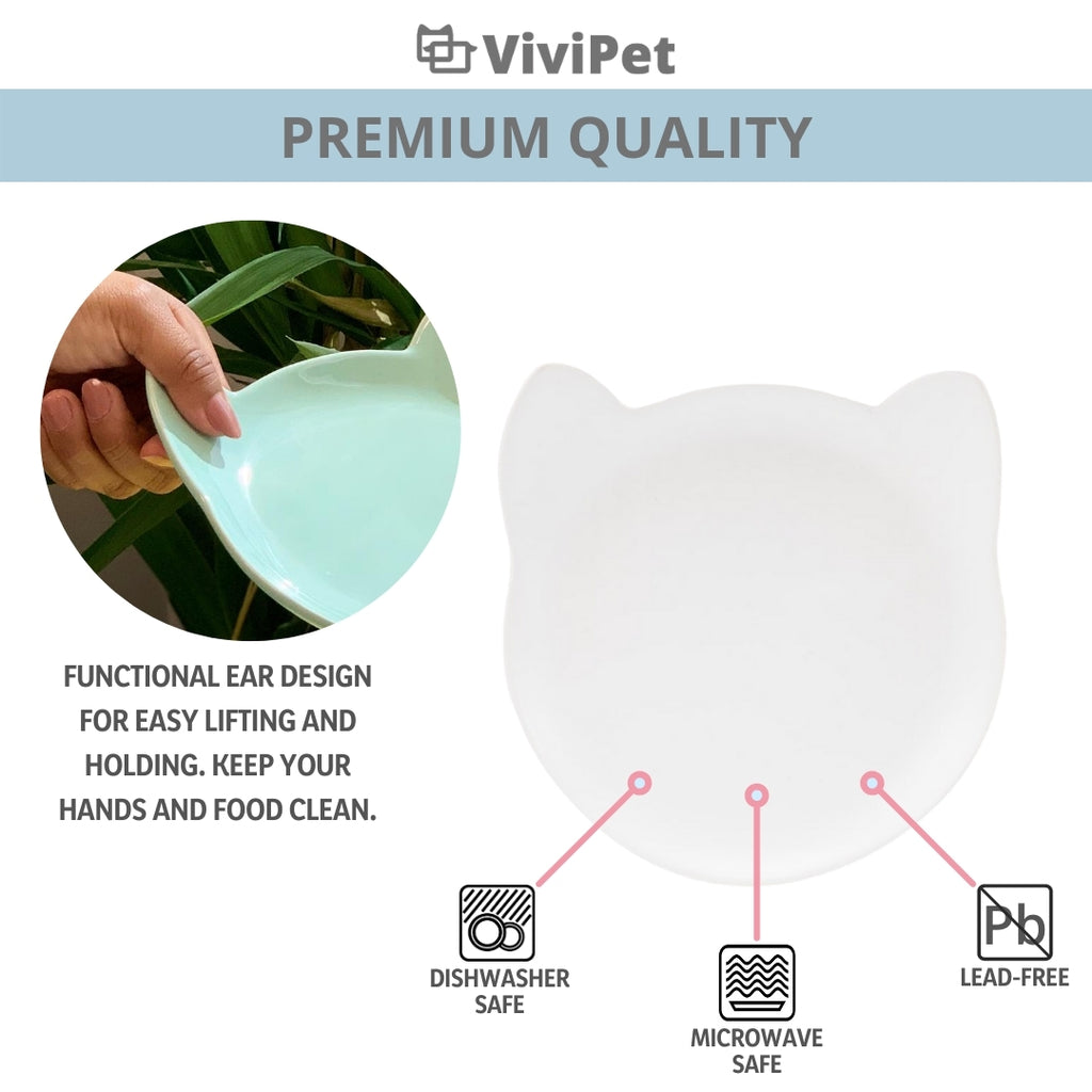 ViviPet Designed | Ceramic Kitty Plate - Small
