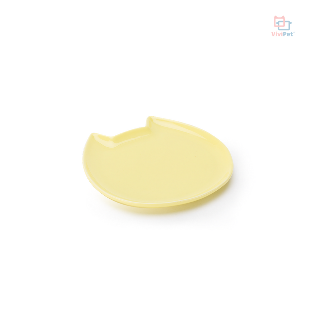 ViviPet Designed | Ceramic Fat Cat Plate - Small