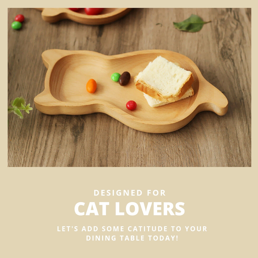 ViviCat Selected | Cat-Shaped Wooden Plate