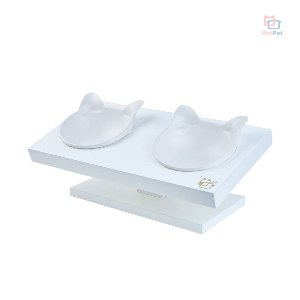 ViviPet Designed | Buddy Elevated Feeder - White