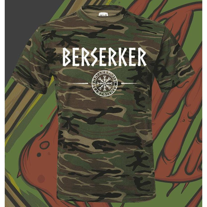 Camo Berserker Shirt-Shirt-Viking Merch