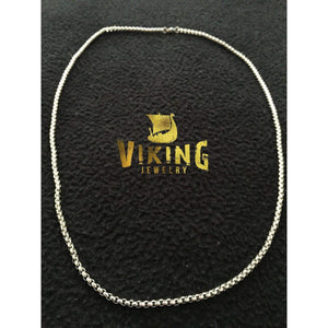 Cubed Stainless Steel Chain Necklace (C002)-Necklace-Viking Merch