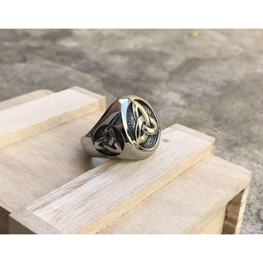 Elite Trinity Knot Ring (R050)-Ring-Viking Merch